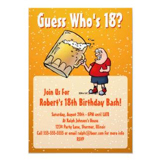 De grappige 18de Uitnodiging van de Partij van de