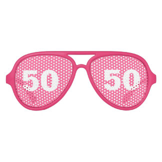 De grappige 50ste partij van de Verjaardag stelt   Feest Zonnebril