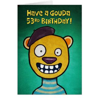 De grappige 53ste Kaart van de Verjaardag voor