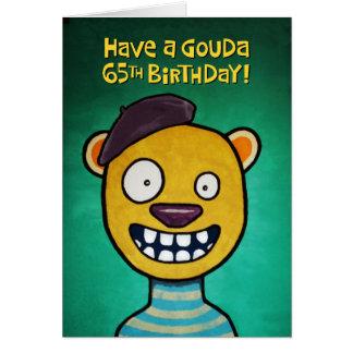 De grappige 65ste Kaart van de Verjaardag