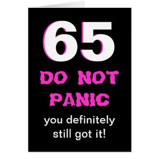 De grappige 65ste Kaart van de Verjaardag voor