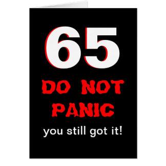 De grappige 65ste Kaart van de Verjaardag voor Man