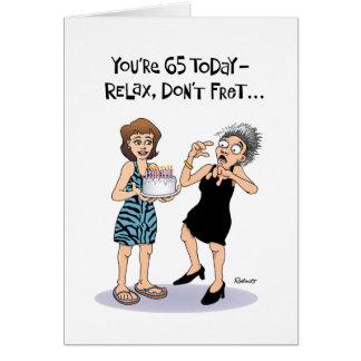 De grappige 65ste Kaart van de Verjaardag voor Vro