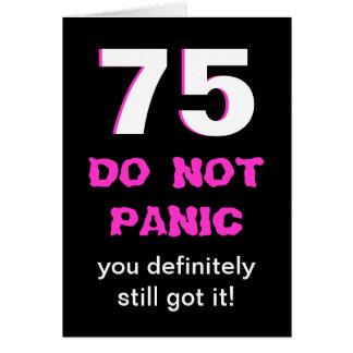 De grappige 75ste Kaart van de Verjaardag voor
