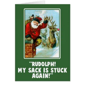 De grappige Aanvallende Kerstkaart van de Wenskaart