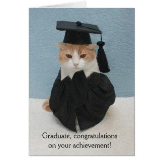 De grappige Afstuderen van de Kat Briefkaarten 0