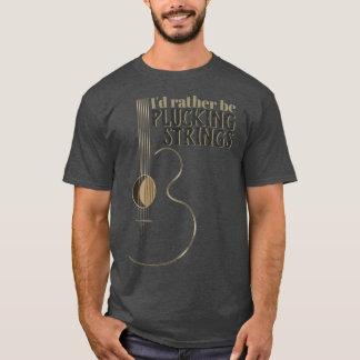 De grappige Akoestische Gitaar plukt eerder T Shirt