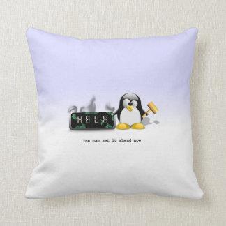 De grappige AntiZomertijd van de Pinguïn Sierkussen
