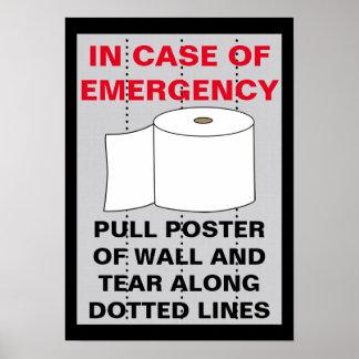 De grappige Badkamers van het Toiletpapier Poster