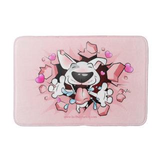De grappige Badmat van Bull terrier van de Cartoon