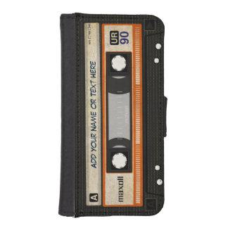 De grappige Band van de Cassette van de Muziek van iPhone 5 Portemonnee Hoesje
