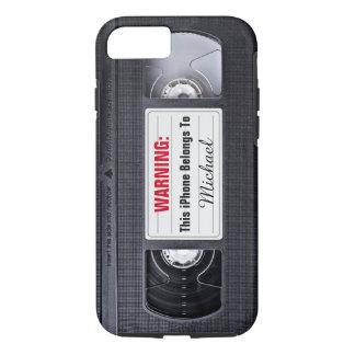 De grappige Band van VHS met de Tekst van de Naam iPhone 8/7 Hoesje