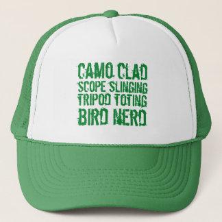 De grappige Beklede Vogel Nerd van Toting van de Trucker Pet