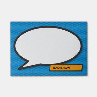 De grappige Bel van de Toespraak van het Pop-art Post-it® Notes
