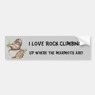 De grappige Bergbeklimming van de liefde van I, Sp Bumpersticker