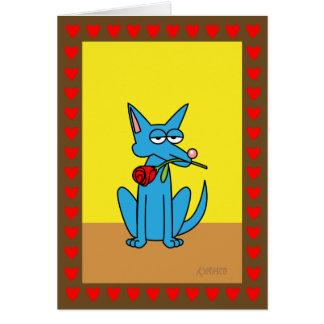De grappige Blauwe Coyote van Valentijn Don Juan Briefkaarten 0