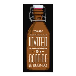 De grappige BQ van het Vuur & van het Bier Partij 10,2x23,5 Uitnodiging Kaart