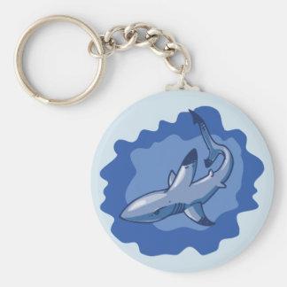 de grappige cartoon van de ertsaderhaai sleutelhanger
