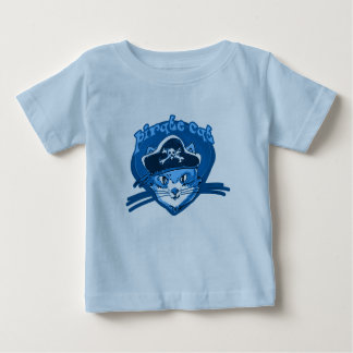 de grappige cartoon van de piraatkat baby t shirts