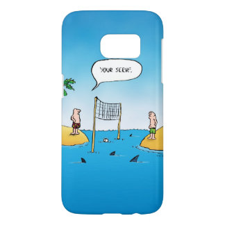 De Grappige Cartoon van het Volleyball van de haai Samsung Galaxy S7 Hoesje