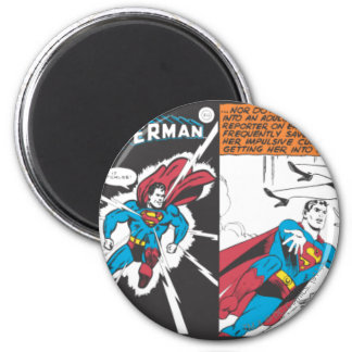 De Grappige Comités van de superman Ronde Magneet 5,7 Cm
