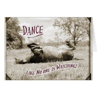 De grappige Dans als niemand let op de Kaart van