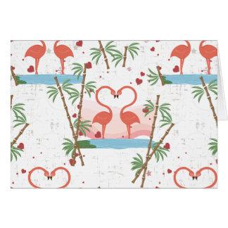 De grappige Dans van de Flamingo's van Valentijn Wenskaart