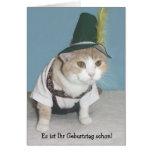 De grappige Duitse Verjaardag van de Kat Wenskaarten