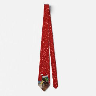 De grappige Eend van de Kerstman van Kerstmis Custom Stropdassen