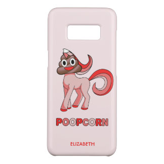 De Grappige Eenhoorn van Poopcorn met het Hoofd Case-Mate Samsung Galaxy S8 Hoesje
