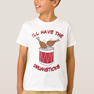 De grappige en Leuke Tekening van de Thanksgiving T Shirt