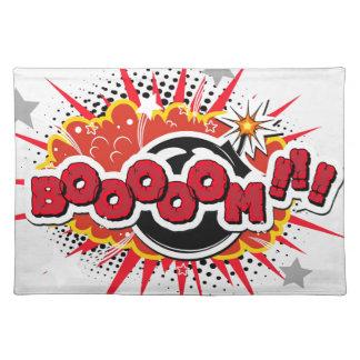 De grappige Explosie van de Boom van het Pop-art Placemat