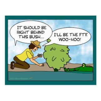 De grappige Extreme Douane van de Cartoon van Briefkaart