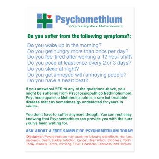 De grappige Farmaceutische Advertentie van het Briefkaart
