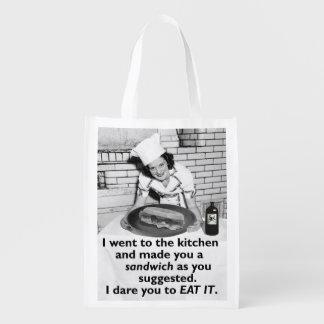 De grappige Feministe maakt me een Sandwich Herbruikbare Boodschappentas