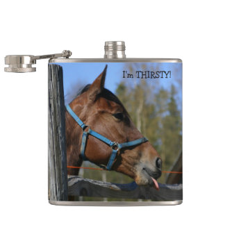De grappige Fles van het Paard Heupfles