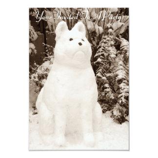 de grappige foto van de sneeuwmanKerstmis van 8,9x12,7 Uitnodiging Kaart