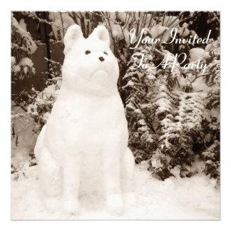 de grappige foto van de sneeuwmanKerstmis van Persoonlijke Aankondigingen
