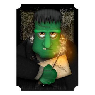 De grappige Frankenstein Gepersonaliseerde Partij 12,7x17,8 Uitnodiging Kaart