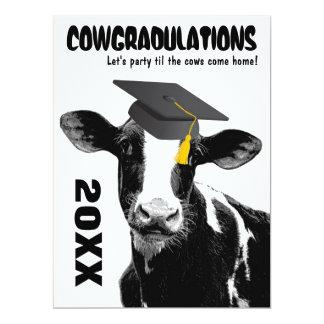 De grappige Gelukwensen van de Afstuderen van de 16,5x22,2 Uitnodiging Kaart