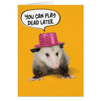 De grappige Geweldige Verjaardag van het Opossum Briefkaarten 0