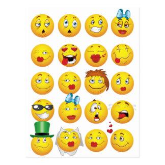 De grappige Gezichten Emoji koelen Geweldige Briefkaart