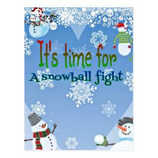 De grappige giften van Kerstmis van de Strijd van Briefkaart