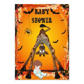 De Grappige Giraf van het Baby shower van de 12,7x17,8 Uitnodiging Kaart