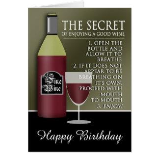 De grappige Goede Verjaardag van de Wijn Wenskaart