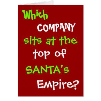 De grappige Grap van de Kerstkaart van de Advocaat Briefkaarten 0