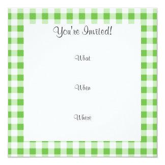 De grappige Groene Snor van de Gingang 13,3x13,3 Vierkante Uitnodiging Kaart