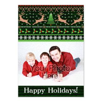 De grappige Groet van de Foto van de Sweater van 12,7x17,8 Uitnodiging Kaart