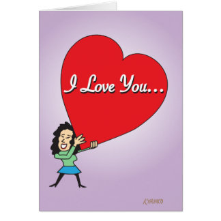 De grappige Grote Kaart van Valentijn van de