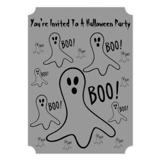 de grappige Halloween van het spoken schreeuwende 12,7x17,8 Uitnodiging Kaart
